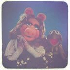 muppets miss piggy kermit vintage t-shirt iron-on