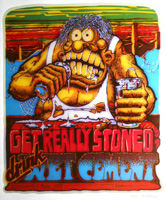 get really stoned drink wet cement t-shirt iron-on vintage