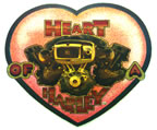 harley davidson heart of a harley motorcycle vintage t-shirt iron-on 1970's