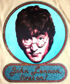john lennon vintage 1970's t-shirt iron-on