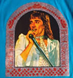 rod stewart live concert vintage 1970's t-shirt iron-on