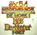 sex is a misdemeanor... de more I miss de-meaner I get vintage t-shirt iron-on