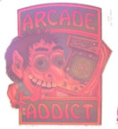 arcade addict vintage t-shirt iron-on