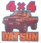datsun 4x4 truck pick-up truck vintage t-shirt iron-on transfer