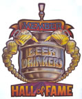 beer drinkers hall of fame vintage t-shirt iron-on