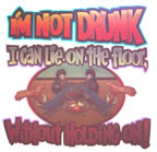 i'm not drunk I can lie on the floor vintage t-shirt iron-on