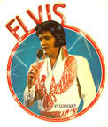 Elvis Presley in concert 1970's vintage t-shirt iron-on