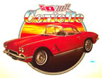 corvette convertable vintage t-shirt iron-on
