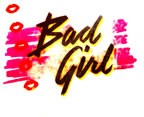 bad girl Unused Original Vintage T-Shirt Iron-On Heat Transfer