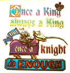 once a king always a king but once a knight is enough Unused Original Vintage T-Shirt Iron-On Heat Transfer