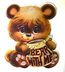 bear with me cute bear honey vintage t-shirt iron-on transfer