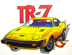 mazda tr-7 car rare hot rod car vintage t shirt  vintage t-shirt iron-on