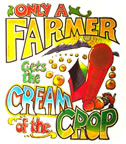 only a farmer gets the cream of the crop vintage t-shirt iron-on