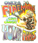 only a fireman can douse your flames vintage t-shirt fireman iron-on transfer