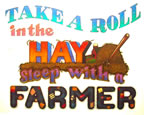 take a roll in the hay sleep with a farmer vintage t-shirt iron-on heat transfer