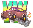 vw volkswagon beetle bug vintage t-shirt  vintage t-shirt iron-on