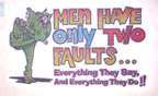 men have only two faults vintage t-shirt iron-on