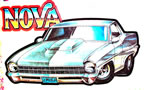 chevy nova vintage t-shirt iron-on
