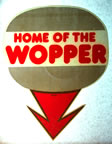 home for the wopper vintage t-shirt iron-on transfer