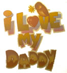 I Love My Daddy Vintage T-SHirt Iron-ON Heat Transfer
