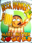 beer drinkers make better lovers vintage t-shirt iron-on