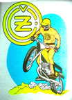 kawasaki motorcycle vintage t-shirt iron-on 1970's