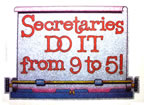 secretaries do it from 9 to 5 vintage t-shirt iron-on
